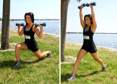 exercitii de fitness cu gantere